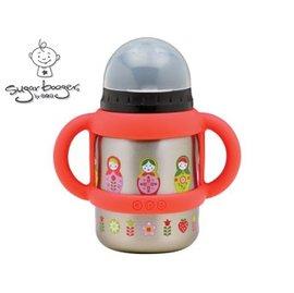 兒童水杯水壺-Baby Joy World-【美國Sugarbooger】兒童不鏽鋼水壺水杯 350ml-俄羅斯娃娃(A944)
