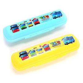 兒童餐具收納盒-Baby Joy World-韓國製進口硬殼餐具收納盒 學習筷湯叉專用收納盒-Tayo小巴士汽車
