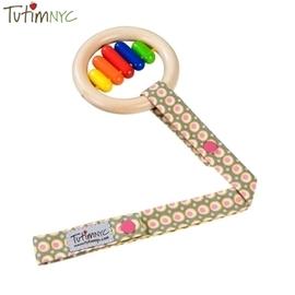 玩具防落吊帶-Baby Joy World-美國TutimNYC 手工玩具吊帶-粉紅橄欖 【玩具鍊】