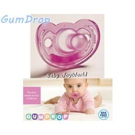 奶嘴固齒器-Baby Joy World- GumDrop 美國製造NICU醫療級 香草奶嘴- 【桃紅色】