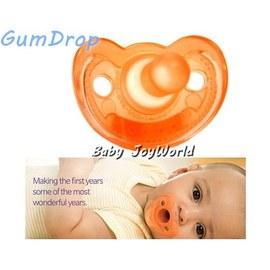 奶嘴固齒器-Baby Joy World- GumDrop 美國製造NICU醫療級 香草奶嘴- 【橙橘色】