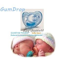 奶嘴固齒器-Baby Joy World- GumDrop 美國製造NICU醫療級 香草奶嘴- 【水藍色】