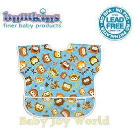 Baby Joy World圍兜美國Bumkins Junior Bib透氣防水圍兜防臭兒童圍兜口水巾-【1-3歲適用(短袖)】-可愛貓頭鷹(U240)