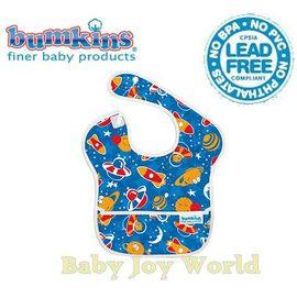 圍兜口水巾-美國Bumkins Super Bib透氣防水防臭兒童圍兜口水巾-【3個月~2歲適用(無袖)】-太空火箭(S223)