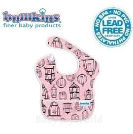 圍兜口水巾-美國Bumkins Super Bib透氣防水防臭兒童圍兜口水巾-粉紅鳥兒(S200)