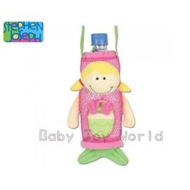 Baby Joy World-【美國Stephen Joseph】兒童可愛造型水壺袋-【美人魚】孩子外出隨身攜帶喝水超方便