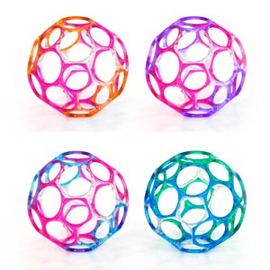 兒童玩具-Baby Joy World-Kids II O Ball魔力洞動球-4吋果洞款魔力洞動球 #81005