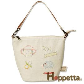 保溫保冷袋-Baby Joy World-日本Hoppetta-刺繡保溫、冷手提袋 (米白) # 521915