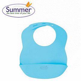 學習圍兜-Baby Joy World-美國 Summer Infant 可攜式防水學習圍兜-(粉藍/粉紅/粉綠)