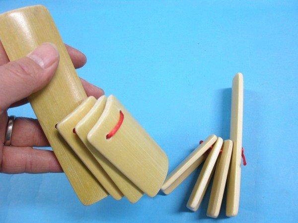 空白數來寶響板 彩繪相聲竹板 數來寶竹板 相聲響板(竹片4片式)/一個入{促25}