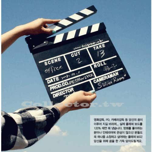 【A14061001】時尚木質英文導演板(大號)電影拍板 場記板 拍攝場記板 黑板