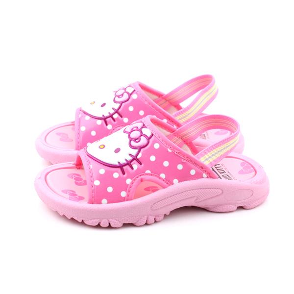 Hello Kitty 拖鞋 童鞋 粉色 中童 no724