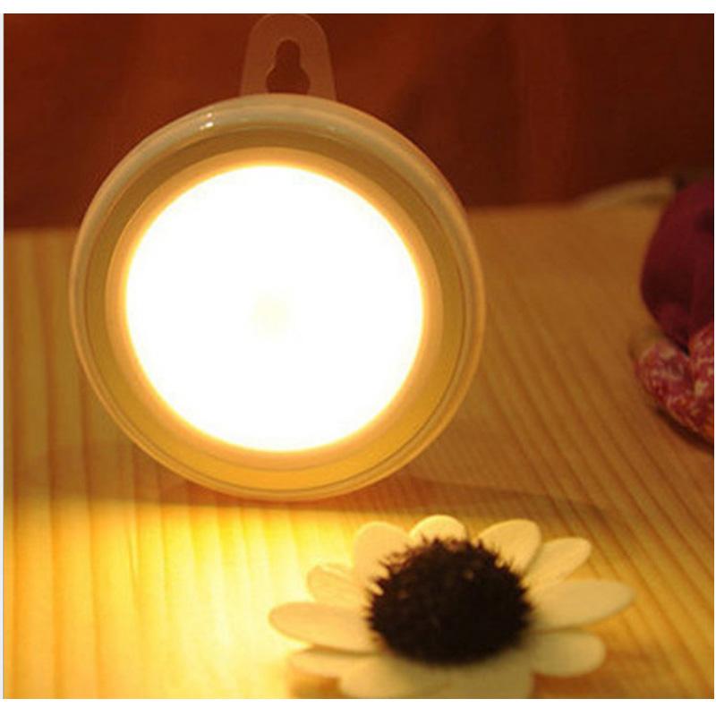 圓形LED 人體感應燈 樓梯燈 櫥櫃燈 夜燈 照明燈 露營燈 緊急照明燈