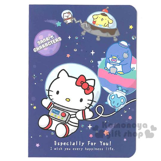 〔小禮堂〕Hello Kitty 萬用卡片《藍.外太空.布丁狗.山姆企鵝》附信封