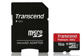 可傑 送儲存盒 創見 Transcend Micro SDHC 16G 60MB/s 400X 公司貨終生保固 高階超高速