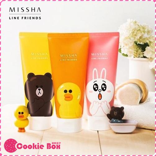 韓國 MISSHA LINE FRIENDS 洗面乳 150ml 熊大 兔兔 莎莉 保濕 清潔 潔膚 溫和 *餅乾盒子*