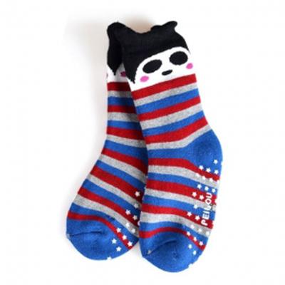 【悅兒樂婦幼用品舘】PEIBOU 貝柔  小熊貓全毛巾止滑襪(P482)