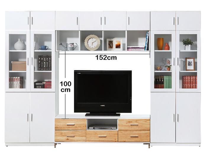 【尚品傢俱】HY-A329-03 米婭10.3尺 x 7尺電視牆