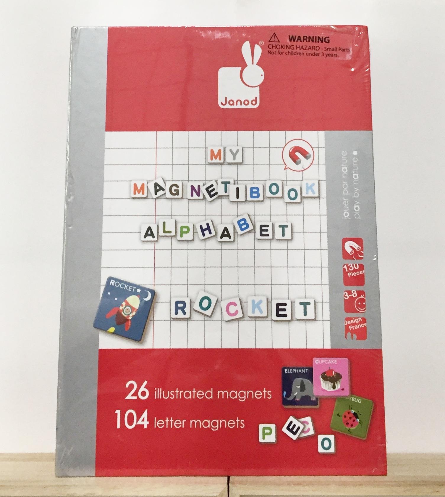 《★法國Janod》學習磁鐵書- ABC字母  美國代購 溫媽媽