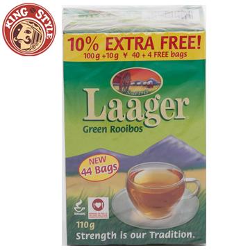 【Laager】南非國寶茶 如意博士綠茶 40+4包/盒(加量不加價)