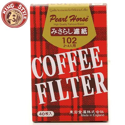 【Pearl Horse】102D無漂白咖啡濾紙(2-4人)-40枚入