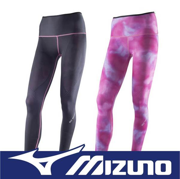 萬特戶外運動 MIZUNO 美津濃 BIOGEAR BG9000 K2MJ5D0296 女雙面穿壓縮褲 壓力褲 支撐保護 吸汗快乾 彈性佳 抗紫外線 黑&紫紅色