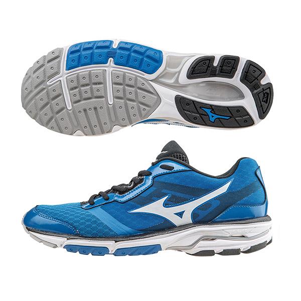 翁滋蔓代言休閒款 WAVE UNITUS DC2 男慢跑鞋 J1GC162101(藍X白)S【美津濃MIZUNO】