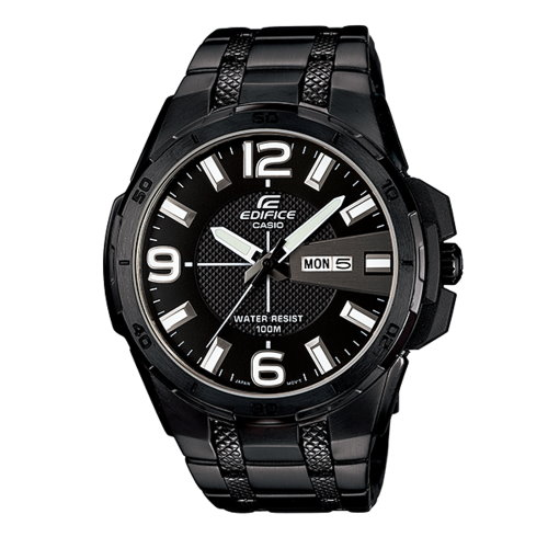 CASIO EDIFICE寶車風格時尚錶/黑鋼/EFR-104BK-1AVUDF