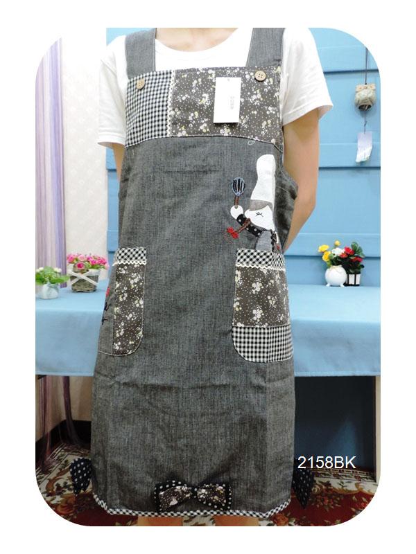 ◤彩虹森林◥《2158BK》可愛廚師小女孩 日式拼布圍裙 日式圍裙 主婦家居 幼稚園工作圍裙 工作裙