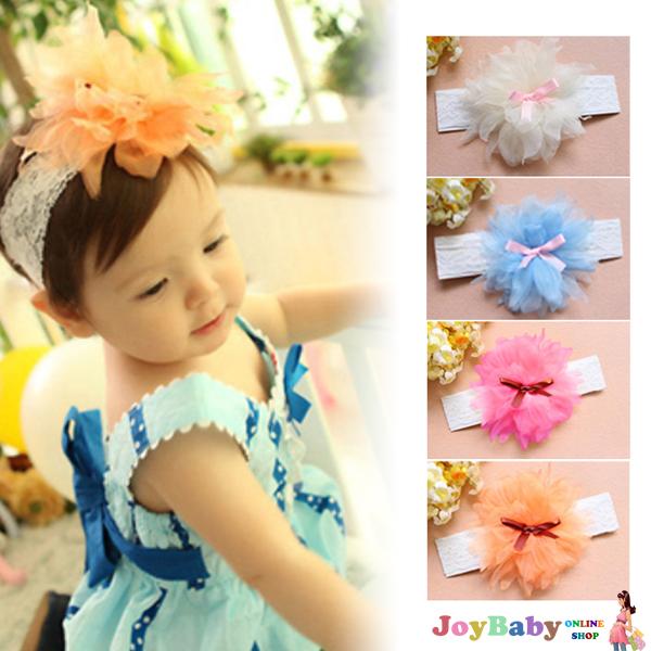 髮帶/髮飾/頭飾/花童/新款韓國寶寶雪紡花朵 兒童髮帶 嬰兒髮飾 頭飾【JoyBaby】