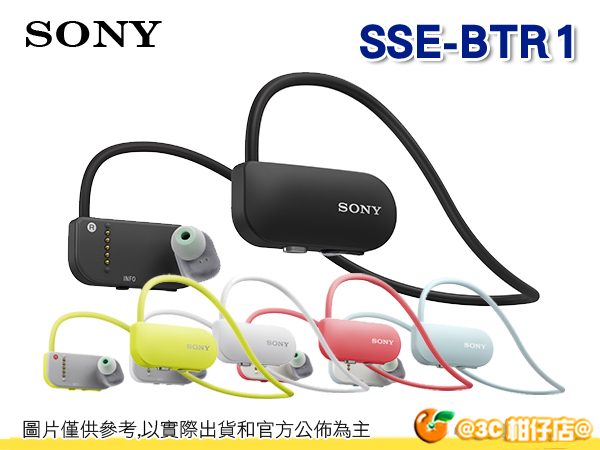 送原廠漾彩包+收納包 耳機收納盒 SONY SSE-BTR1 Smart B-Trainer BTR1 健身教練 藍牙無線耳機 MP3 台灣索尼公司貨
