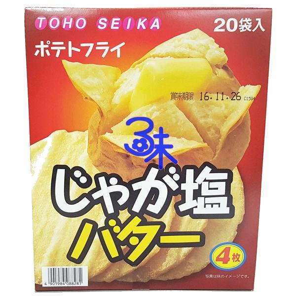 (日本)  TOHO SEIKA 東豐製菓 馬鈴薯洋芋片盒-奶油鹽味 (東豐 馬鈴薯 奶油 洋芋片盒) 1盒220公克(20小包) 特價 299 元 【 4901984088281 】