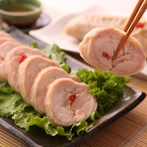 元進莊-紹興雞肉捲375g 滑嫩腿肉酒香入味