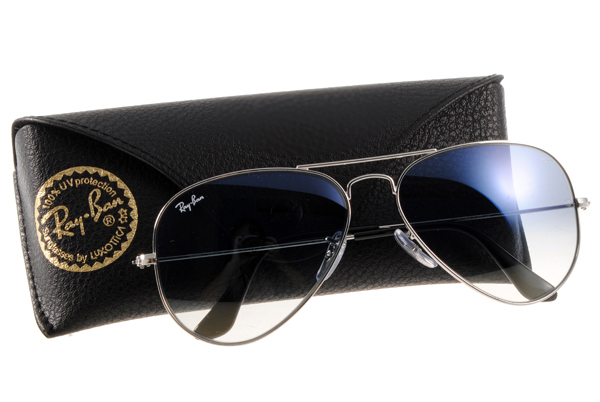 Ray Ban 雷朋 銀邊漸層灰鏡 太陽眼鏡 RB3025