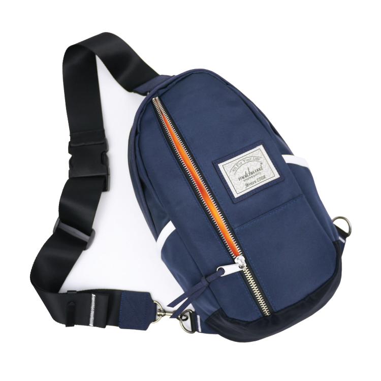 REMATCH - Matchwood Hunter 單肩後背包 海軍藍銀拉鍊款 斜背包 側背包 隨身包 胸前包 基本防水 / 單車/ 輕便 / 旅遊休閒隨身 / 運動 / Fixed gear / Dickies / Porter 可參考