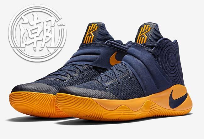 最新 NIKE騎士隊Kyrie 2 Cavs黃藍配色 運動 男鞋 籃球鞋【T0025】潮