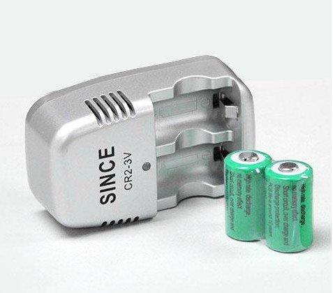 CR2 電池充電組 充電器*1 充電式 CR2鋰電池*2 【DIMAAB】