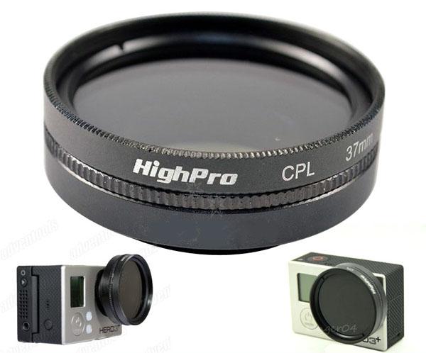 副廠 GOPRO HERO3 HERO3+ 37mm CPL鏡 偏光鏡+轉接環+鏡頭蓋 【BGPA85】