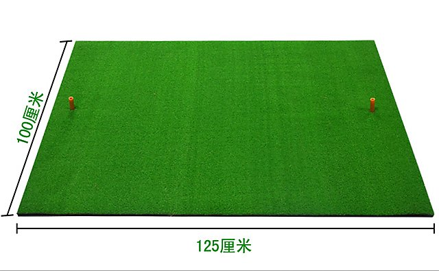 1*1.25m 大型 高爾夫球揮桿打擊墊 草皮練習墊揮杆墊 切桿墊  送TEE 1個 【GOLAA2】