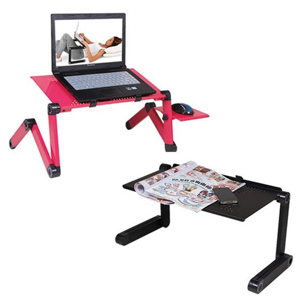 鋁合金 筆記型電腦桌 床上折疊 筆電 小書桌子 懶人桌 【MICA22】