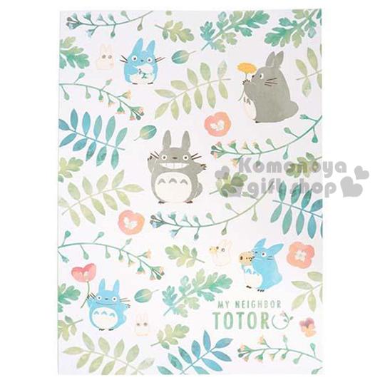 〔小禮堂〕宮崎駿 Totoro龍貓 日製筆記本《B5.白.花草滿版》