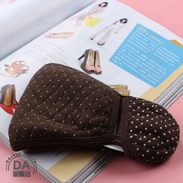 《DA量販店》寒冬 保暖 棉質 二合一 護耳 口罩 圓點 咖啡色(V50-0895)