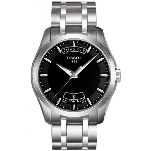 TISSOT天梭T0354071105100 建構師經典雙日曆腕錶/黑面39mm