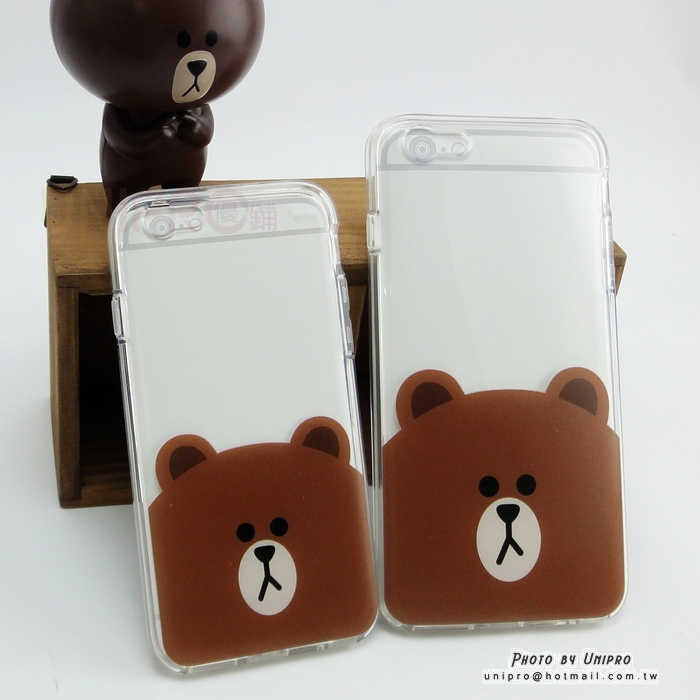 【UNIPRO】iPhone 6 6S 4.7吋 5.5吋 正版 LINE FRIENDS 熊大 空壓氣墊手機殼 i6+
