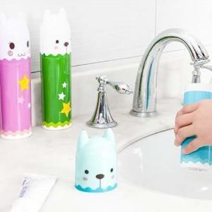美麗大街【BF129E23E857】卡通造型洗漱牙具牙刷盒旅行 便攜式牙刷牙膏收納盒 牙刷杯