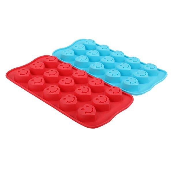 =優生活=食用級矽膠可愛笑臉矽膠冰格模具冰塊製冰盒 烤箱烘焙用具 巧克力模 肥皂模 果凍模