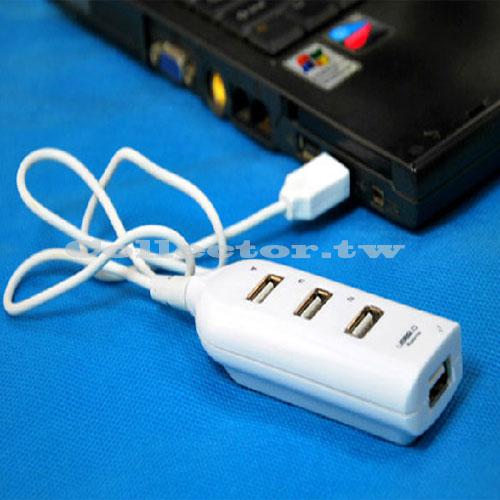 【O14032401】排插式USB2.0 HUB 一對四接口集線器 一分四分線器