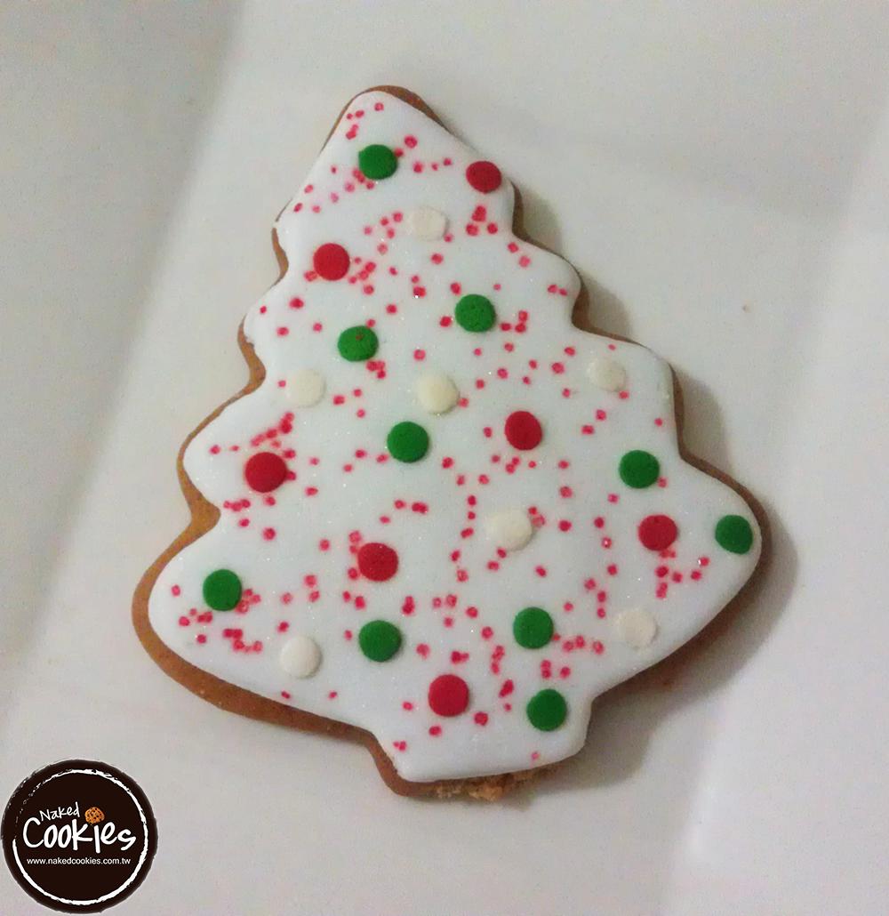 【裸餅乾Naked Cookies】聖誕樹(1)6入-創意手工糖霜餅乾,婚禮小物/生日/活動/收涎/彌月