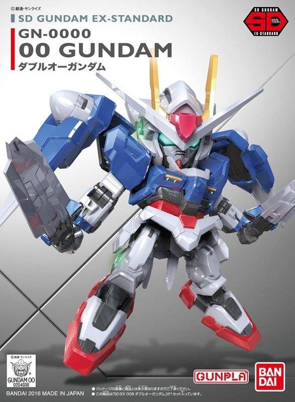 ◆時光殺手玩具館◆ 現貨 組裝模型 模型 鋼彈模型 BANDAI SD鋼彈 EX-STANDARD 008 00鋼彈 OO鋼彈