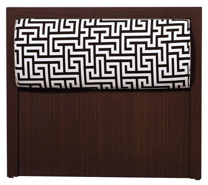 【尚品家具】HY-A198-05 凱特胡桃3.5尺床頭片(迷宮布)